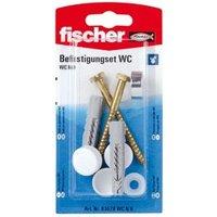 Fischer Toilet Fixing cap kit (L)70mm Pack of 2.
