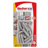 Fischer Nylon Wall plug (L)30mm (Dia)6mm Pack of 30.