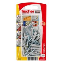 Fischer Nylon Wall plug (L)25mm (Dia)5mm Pack of 25.