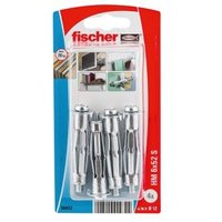 Fischer Steel Hollow wall anchor (L)52mm Pack of 4.