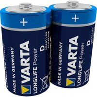 Varta Longlife Power Non-rechargeable D (LR20) Battery Pack of 2