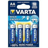 Varta Longlife Power Non rechargeable AA Battery Pack of 4.
