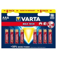 Varta Longlife Max Power Non rechargeable AAA Battery Pack of 8