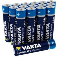 Varta Longlife power Non rechargeable AAA Alkaline Battery Pack of 16