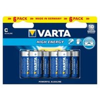 Varta Longlife Power Non rechargeable C (LR14) Battery Pack of 6