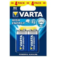 Varta Longlife Power Non rechargeable 9V Battery Pack of 4