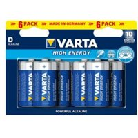 Varta High Energy D Alkaline Battery  Pack of 6