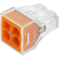 Wago 773 series Orange 24A 4 way Wire connector Pack of 100.
