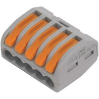 Wago Grey 32A 5 way In-line wire connector Pack of 40.