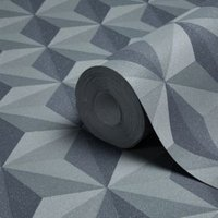 A.S. Creation Life 4 Grey Geometric Glitter effect Embossed Wallpaper