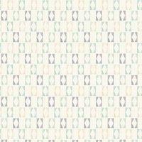A.S. Creation Bjorn White  Blue & Grey Geometric Matt Finish Wallpaper