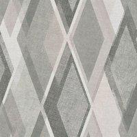A.S. Creation Pop colours Cream & grey Geometric diamond Wallpaper