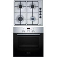 Bosch HBN2PBP6E1 Stainless steel exterior Single Electric Oven & hob pack