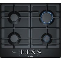 Bosch PCP6A6B90 4 Burner Black Stainless Steel Gas Hob
