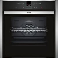 Neff Slide&Hide B47CR32N0B Stainless steel Built-in Electric Single Multifunction Oven.