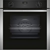 Neff Slide&Hide B3ACE4HN0B Black Built-in Electric Single Multifunction Oven.