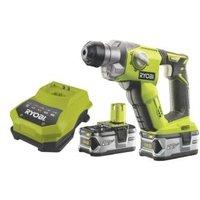 Ryobi One+ Cordless 18V 4Ah Li-ion SDS plus drill 2 batteries R18SDS-LL40S