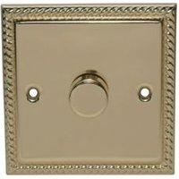 Holder 2-Way Single Polished Brass & Gold Effect Light Switch