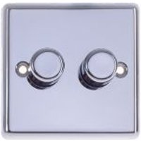 Holder 2-Way Double Polished Chrome Dimmer Switch