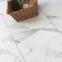 Showhome White Marble effect Luxury vinyl flooring tile 2.16m² Pack