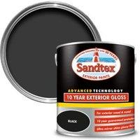 Sandtex 10 year Black High gloss Paint 2.5L