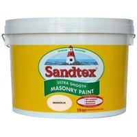 Sandtex Ultra smooth Magnolia Masonry paint  10L