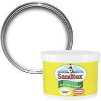 Sandtex Ultra smooth Pure brilliant white Masonry paint  10L