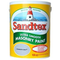 Sandtex Ultra smooth Plymouth grey Masonry paint  5L