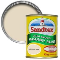 Sandtex Illus White Smooth Matt Masonry Paint 0.15L Tester Pot