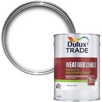Dulux Trade Weathershield Pure brilliant white Smooth Masonr