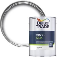 Dulux Trade Pure brilliant white Silk Emulsion paint 5L