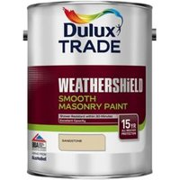 Dulux Trade Weathershield Sandstone Smooth Masonry paint  5L