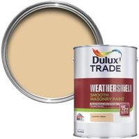 Dulux Trade Weathershield Country cream Smooth Masonry paint  5L