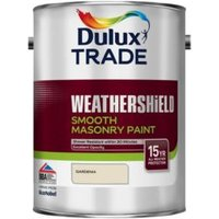 Dulux Trade Weathershield Gardenia Smooth Masonry paint  5L