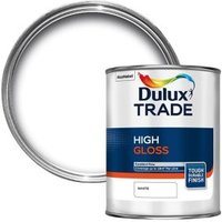 Dulux Trade Interior & Exterior White High Gloss Paint 1L