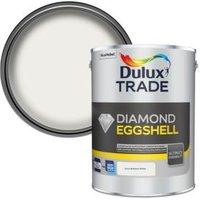 Dulux Trade Diamond Pure brilliant white Eggshell Metal & wood paint 5L