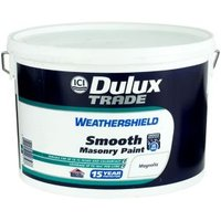 Dulux Trade Weathershield Magnolia Smooth Masonry paint  10L