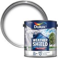 Dulux Weathershield Pure brilliant white Gloss Wood & metal paint 2.5L
