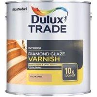 Dulux Trade Diamond Clear Satin Floor Wood varnish 1L