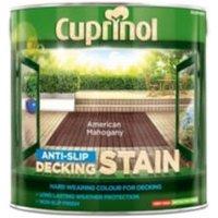 Cuprinol American mahogany Matt Slip resistant Decking Wood stain 2.5L