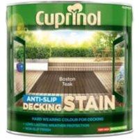Cuprinol Boston teak Matt Slip resistant Decking Wood stain  2.5L