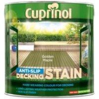 Cuprinol Golden maple Matt Slip resistant Decking Wood stain  2.5L