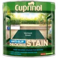 Cuprinol Vermont green Matt Slip resistant Decking Wood stain  2.5L