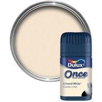 Dulux Once Almond White Matt Emulsion Paint 0.05L Tester Pot