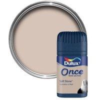 Dulux Once Soft Stone Matt Emulsion Paint 0.05L Tester Pot