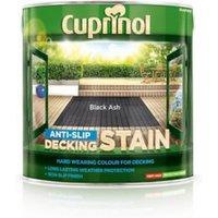 Cuprinol Black ash Matt Slip resistant Decking Wood stain 2.5L