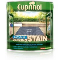 Cuprinol Urban slate Matt Slip resistant Decking Wood stain  2.5L