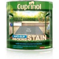 'Cuprinol City Stone Matt Slip Resistant Decking Wood Stain  2.5l