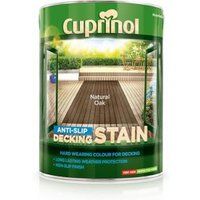 Cuprinol Natural oak Matt Slip resistant Decking Wood stain  5L