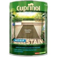 Cuprinol Country cedar Matt Slip resistant Decking Wood stain 5L